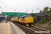 160908-001  Colas Rail Freight class 37/4 no 37421 is seen heading to Worksop as it passes through Mansfield Woodhouse on the Robin Hood Line, powering test train 3Q18, 08.06 Derby R.T.C. - Derby R.T.C. DBSO no 9703 was at the rear.