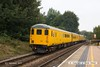 160908-006  Colas Rail Freight class 37/4 no 37421 is seen heading to Worksop as it passes through Mansfield Woodhouse on the Robin Hood Line, powering test train 3Q18, 08.06 Derby R.T.C. - Derby R.T.C. DBSO no 9703 is nearest at the rear.