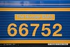 160901-002  Nameplate of GB Railfreight class 66/7 no 66752, named The Hoosier State as it was the first class 66 for the UK to be built at Progress Rail in Muncie, Indiana, which is known as The Hoosier State.