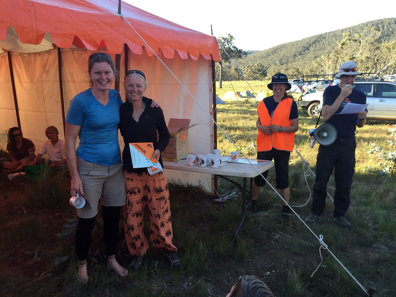 Claire Edwards and Susie Sprague. 6 hr overall and womens open winners.