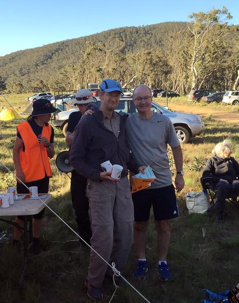 Bruce Barnett and Hugh Jorgensen. 6 hr winners mens vets.
