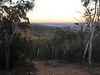 View north from fire trail on ridge N of Mt Foxlow at sunset