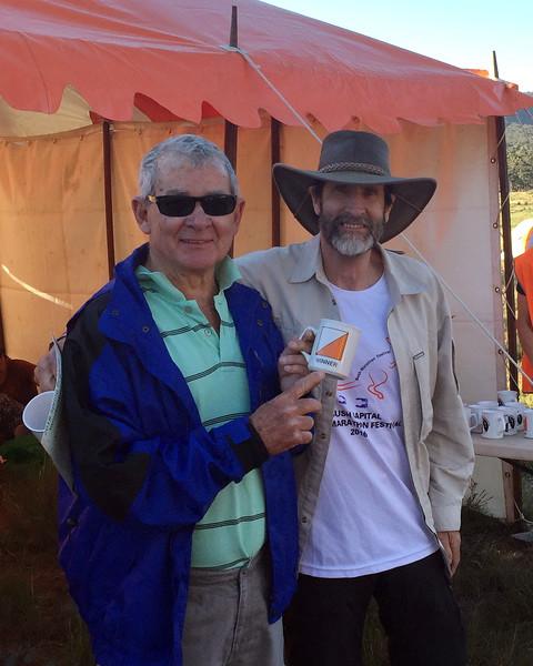Darryl Erbacher and Hugh Moore. 6hr Winners Mens Ultravets