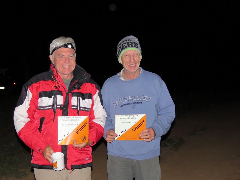 Mark Hurry and Tony Statyer. 12 hr mens supervets winners.