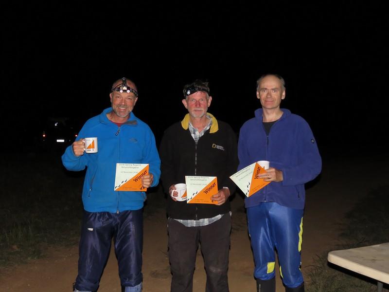 David Poland, Jon Glanville and Marting Etherington. 12 hr winners mens vets.