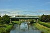 218 crosses the Barrow Bridge at Monasterevin. 1300 Heuston - Cork. Mon 29.08.16