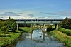 The Belmond Grand Hibernian set passing over the River Barrow at Monasterevin. Mon 29.08.16