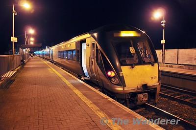 22039 1725 Heuston - Limerick at Portarlington. Mon 25.01.16
