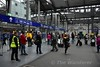 Passengers wait on the concourse at Heuston for the platform to be announced. Thurs 30.06.16