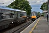 The 1525 Heuston - Limerick was brought to a stand at Ratheven while the line was cleared of the trespasser. 15 minutes late it arrives into Portlaoise. Tues 21.06.16