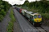 215 passes Killenard with the late running 1140 Ballina - North Wall IWT Liner. Wed 22.06.16