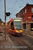 LUAS Tram crosses Blackhall Place with a Tallaght bound tram. Wed 30.11.16
