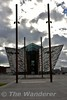 Belfast Titanic Quarter. The iron poels represent the Arrol Gantries used to construct the Olympic and Titanic. Sun 16.10.16