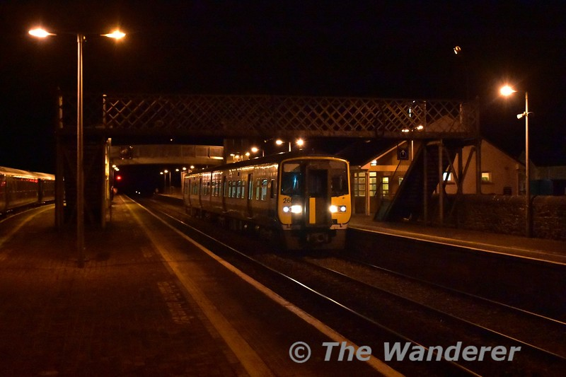 """The early running 2030 Cork - Limerick Ety. passes Charleville with 2602 + 2601 heading to Limerick for their """"B Exam"""". Wed 13.10.16"""