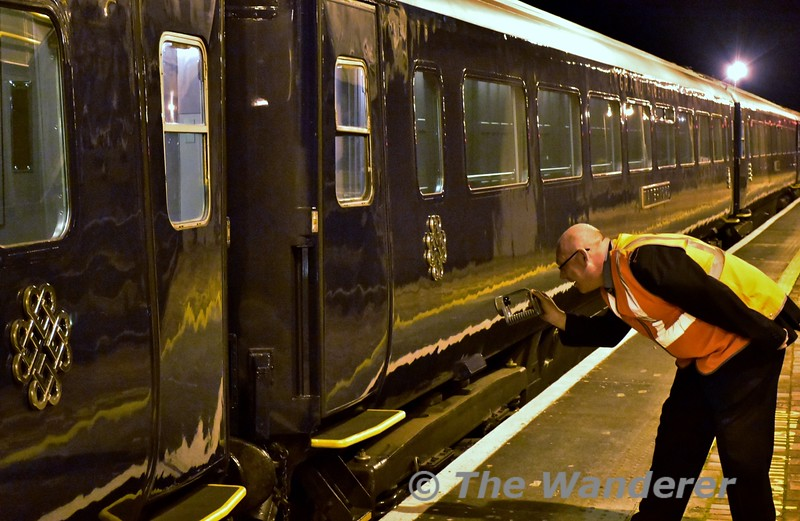 Guard Noel Enright performs his checks on the train after arrival at Charleville. Wed 13.10.16