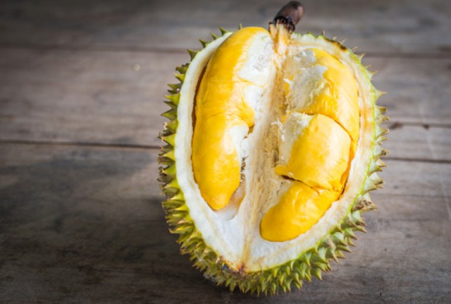 Close up of peeled Durian.