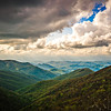 sunset and clouds at craggy gardens blue ridge parkway