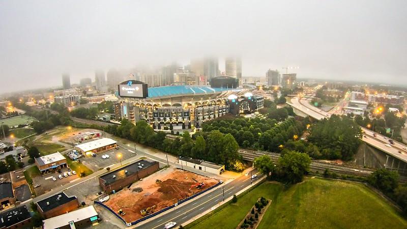 Aerial view of Charlotte North Carolina skyline