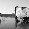 abandoned fishing and shrimp boat near folly beach south carolina
