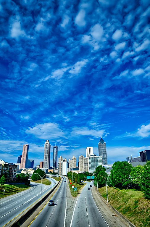 atlanta georgia city downtown skyline view