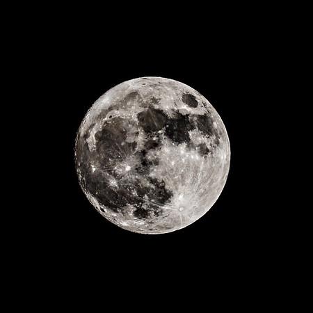 Full moon on the dark night