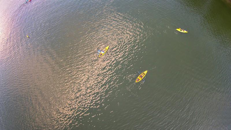 aerial over lake wylie south carolina