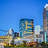 charlotte city skyline north carolina early morning