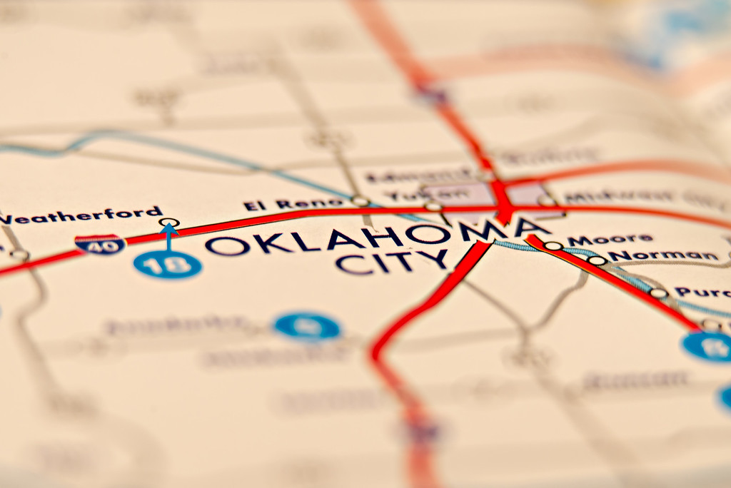 oklahoma city area map