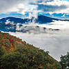 autumn season on blue ridge parkway