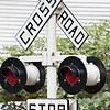 rail road crossign sign and signals
