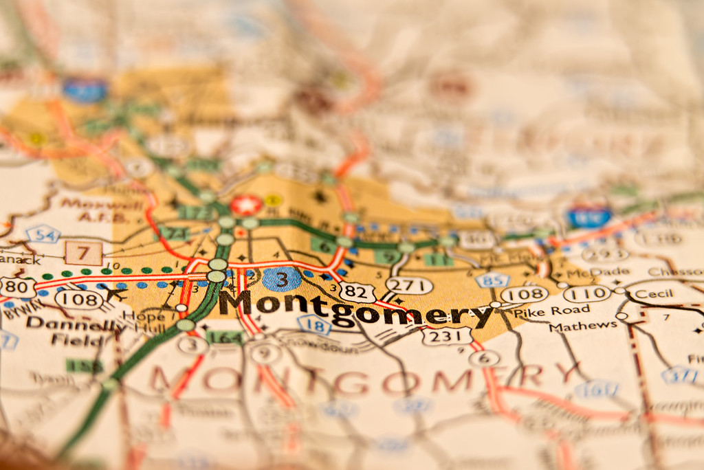 montgomrty alabama area map