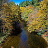 mountain river and fall foliage in the Appalachians of western North Carolina near the Blue Ridge Parkway