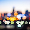 out of focus blury bokeh city skyline lights