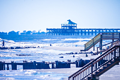 coastal scenes around folly beach south carolina