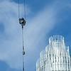 construction site crane in a big city