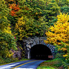 Fall colors and North Carolina mountain tunnel