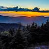 mount mimtchell sunset landscape in summer
