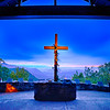 GREENVILLE COUNTY, SC - Oct 15, 2016 - sunrise at Symmes Chapel, aka Pretty Place, is a landmark tourist attraction on Cedar Mountain South carolina