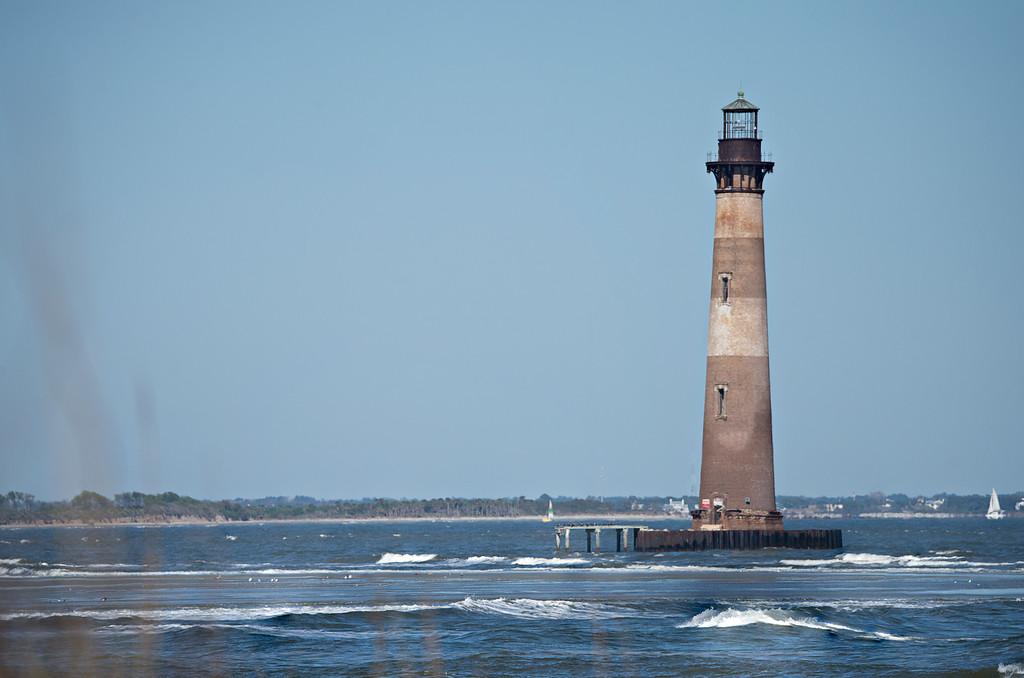 morris island lighthouse near folly beach sc