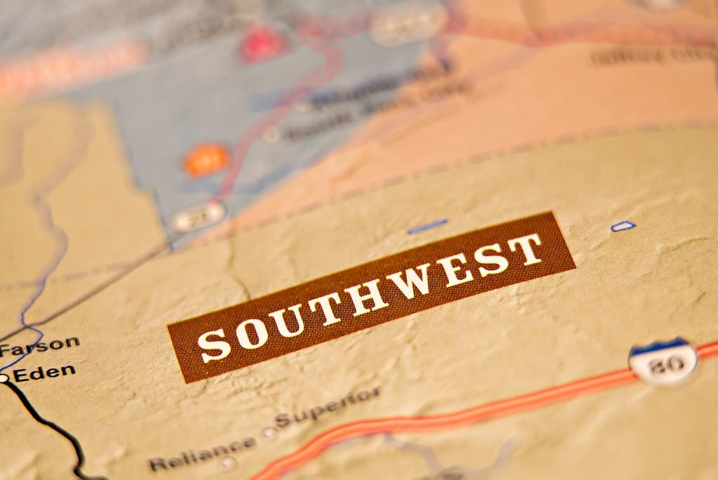 southwest america location area map