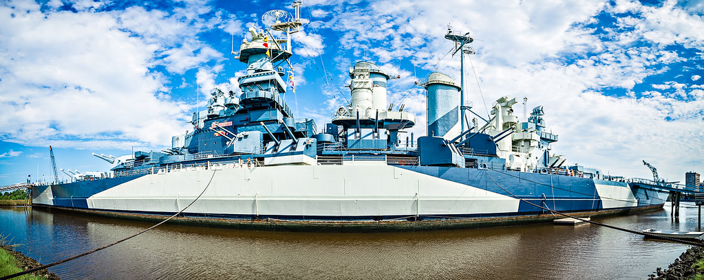 USS North Carolina panorama