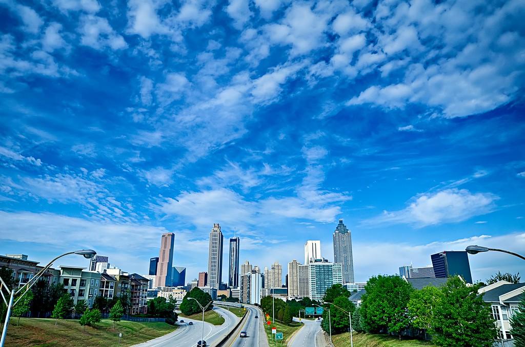 atlanta georgia city downtown skyline view