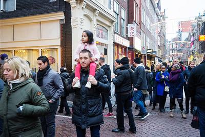 Amsterdam  Centrum, 2 januari 2016, Chinese leeuwendans, foto: Katrien Mulder