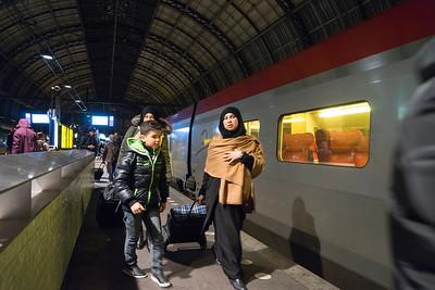 Amsterdam Centraal station, 3 januari 2016, foto: Katrien Mulder
