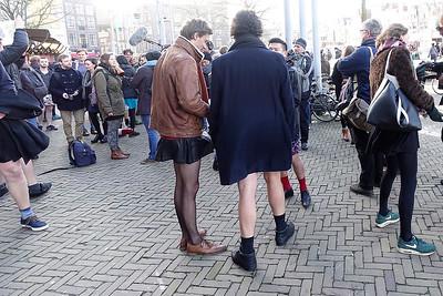 Amsterdan, 16 januari 2016, demonstratie tegen sexueel geweld naar aanleiding van aanrandingen in Keulen, foto: Katrien mulder