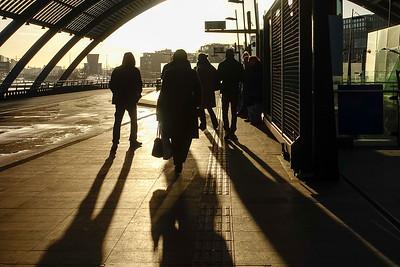 Amsterdam, busstation CS, 24 februari 2016, foto: Katrien Mulder