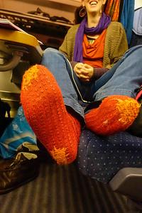 in de trein naar Berlijn foto Katrien Mulder