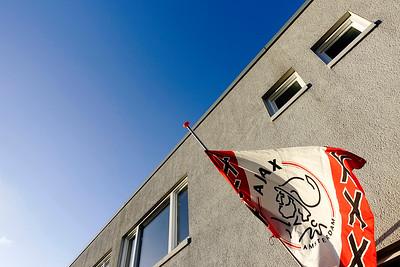 Amsterdam, Betondorp, rouw na de dood van Johan Cruyff  foto: Katrien Mulder