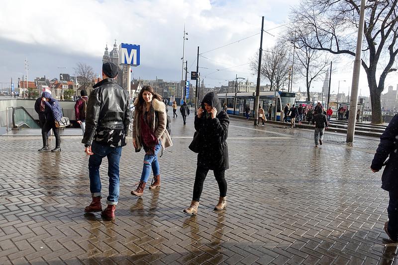 Amsterdam, omgeving Centraal Station, 27 maart 2016, foto: Katrien Mulder
