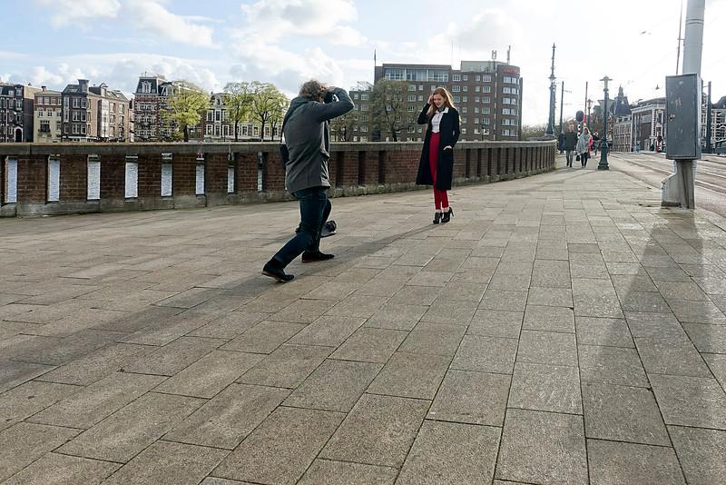 Amsterdam, 24 april 2016, brug over de  Amstel naar ceintuurbaan, foto: Katrien Mulder